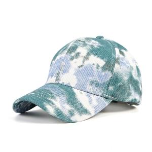 FH062 Tie-dye Pattern Baseball Cap, Green